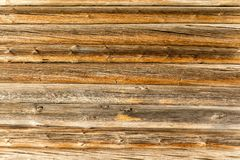 The wooden wall of the log house.  royalty free stock photography