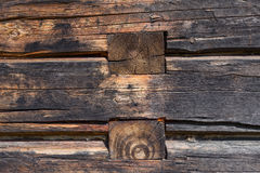Wooden wall from logs Royalty Free Stock Image