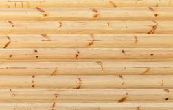Wooden wall made of pine tree boards Royalty Free Stock Image