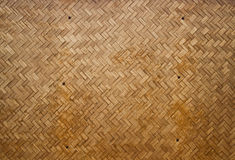 Wooden wall make from bamboo Stock Images