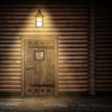 Wooden wall at night Stock Images