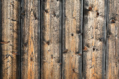 Wooden Wall off Raw Wooden Planks of Traditional Rural Bungalow Stock Photography
