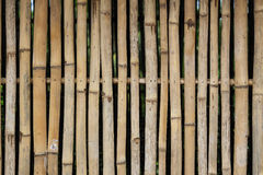 Wooden wall. Old bamboo pattern on a wall Royalty Free Stock Images