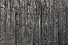 Wooden wall. Old black wooden planks background Royalty Free Stock Images