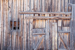 Wooden wall old country barn Stock Photos