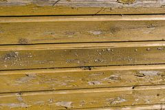 Wooden wall of an old country house close-up. stock photo
