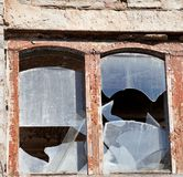 Wooden wall of old destroyed house Royalty Free Stock Photo
