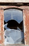 Wooden wall of old destroyed house Royalty Free Stock Photos