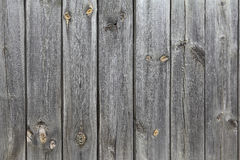 A wooden wall of old, gray boards. Retro background of textured boards for your design. Stock Photo