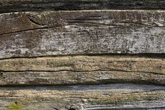 Wooden wall of the old log house Stock Image