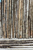 Wooden Wall from Old Logs Royalty Free Stock Photography