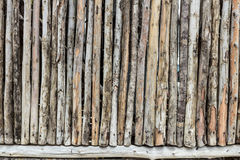 Wooden Wall from Old Logs Royalty Free Stock Images