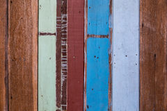 Wooden wall. Wooden old wall pattern with random color painting background royalty free stock photos