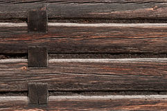 Wooden wall of the old wooden building Royalty Free Stock Image