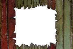 Wooden wall with opening Stock Image