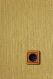 Wooden wall outlet Stock Photo