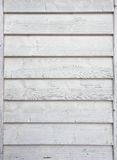 Wooden wall painted white Royalty Free Stock Photo