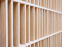 Wooden wall pattern Wood Block Interior decoration Architecture details. Modern building stock images