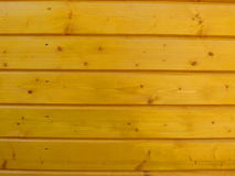 Wooden wall. Wooden plank wall  yellow color Stock Photography