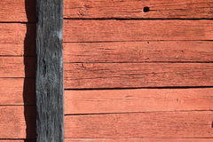 Wooden wall red and black Royalty Free Stock Images