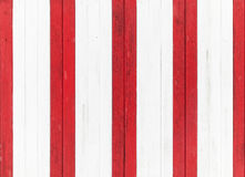 Wooden wall, red and white stripes. Seamless texture Stock Photo