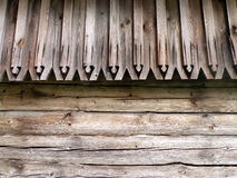 Wooden wall and roof Royalty Free Stock Image