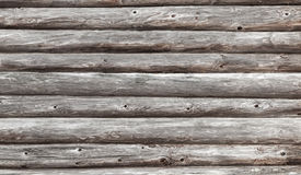 Wooden wall of rural house made of logs Royalty Free Stock Image