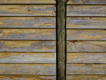 Wooden wall of a rural house at township Stock Photo