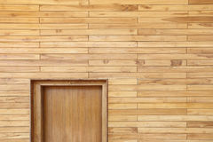 Wooden Wall by stacking or arrange of wood peices and smooth surface Royalty Free Stock Photography