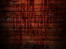 Wooden wall with streaks of blood Stock Photos