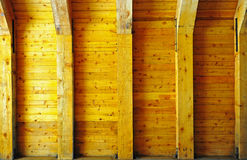 Wooden wall and supports Royalty Free Stock Image