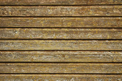 Wooden wall texture. Old wooden board wall being restaurated Stock Images