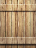 Wooden wall texture in panels Stock Photography
