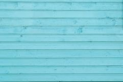 Wooden wall of turquoise color. Horizontal arrangement textures royalty free stock images