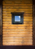 Wooden wall with window Stock Photography