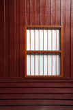 Wooden wall and window Stock Image