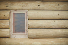 Wooden wall with window Stock Image