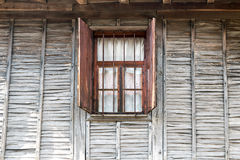 Wooden wall window Royalty Free Stock Image