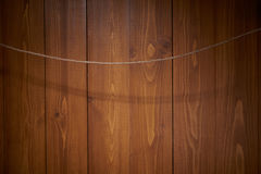 Wooden wall with wire linen Royalty Free Stock Photo