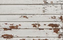Wooden Wall With White Paint Is Severely Weathered And Peeling Royalty Free Stock Photos