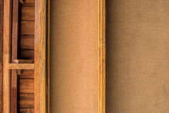 Wooden wall. And wood frame Royalty Free Stock Photo