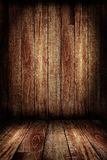 Wooden wall and wooden floor Royalty Free Stock Photo