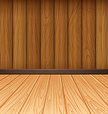 Wooden wall and wooden tiles Royalty Free Stock Photos