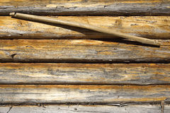Wooden wall and yoke Royalty Free Stock Photo