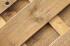 Wooden wallpaper. Simple close up of fluted wooden fence Stock Images
