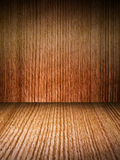 Wooden walls and flooring. Background Royalty Free Stock Photos