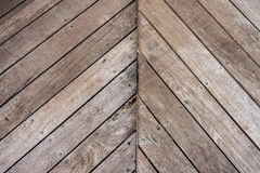 Wooden walls zigzag form surface with texture gain and backgroun Stock Image