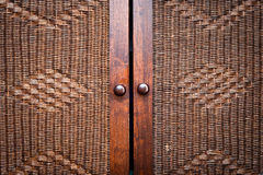 Wooden wardroabe Royalty Free Stock Image