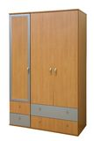 Wooden wardrobe Royalty Free Stock Photos