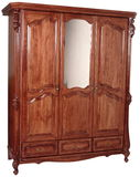 Wooden wardrobe Stock Image